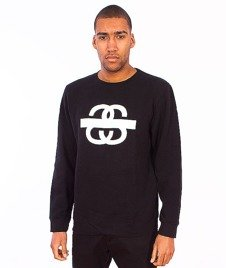 Stussy-SS Taped Crewneck Black
