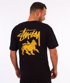 Stussy-Stock Lion T-Shirt Black