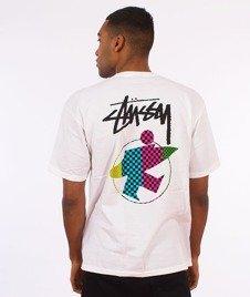 Stussy-Surfman Check T-Shirt White