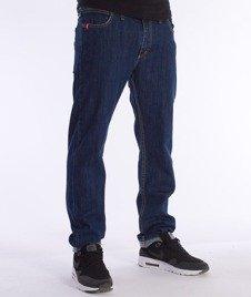 Unhuman-Klasyk Stretch Slim Spodnie Jeans Blue