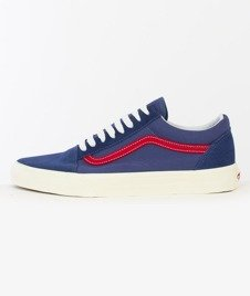Vans-Old Skool (Vintage Sport) Bijou Blue/Racing Red