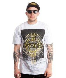 WSRH-Słońce Stencil T-Shirt Biały